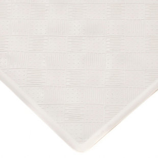 Kenney Non-Slip Rubber Bath, Shower, and Tub Mat with Suction Cups, Off White, large