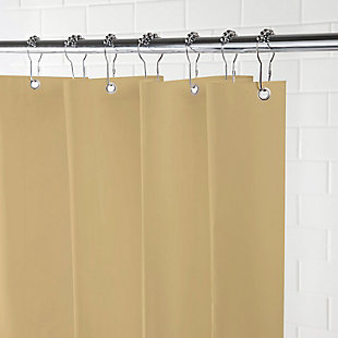 """Kenney Lightweight PEVA Shower Curtain Liner, 70"""" W x 72"""" H, Taupe, large"""