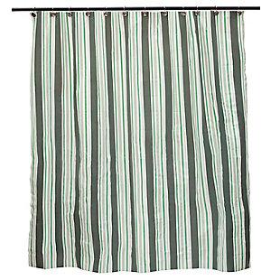 "Kenney Medium Weight Decorative PEVA Shower Curtain Liner, 70"" W x 72"" H, Black, rollover"