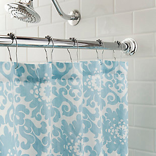 "Kenney Twist & Fit™ No Tools Decorative Tension Shower Curtain Rod, 42-72"", , large"