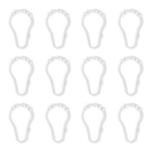 Kenney Beaded Roller Ball Shower Curtain Rings, Set of 12, , rollover