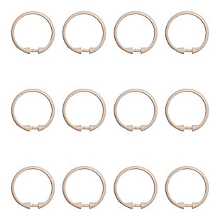 Kenney Smooth Shower Curtain Rings, Set of 12, Cream, large
