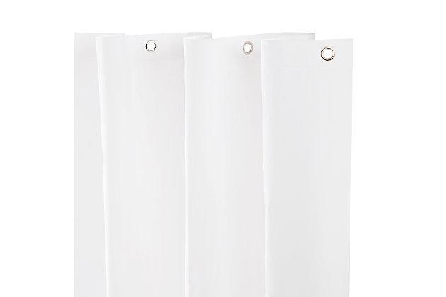 "Kenney Medium Weight PEVA Shower Curtain Liner, 70"" W x 72"" H, White, large"