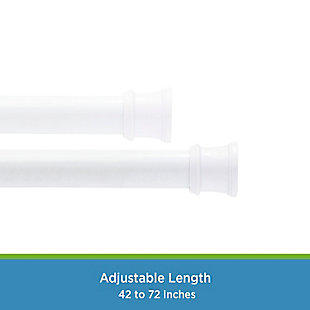 """Kenney Twist & Fit™ No Tools Tension Shower Curtain Rod, 42-72"""", White, large"""