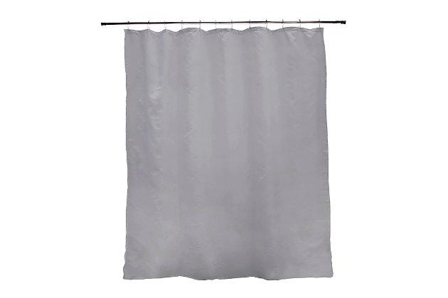 "Kenney Medium Weight PEVA Shower Curtain Liner, 70"" W x 72"" H, Gray, large"