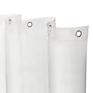 """Kenney Medium Weight PEVA Shower Curtain Liner, 70"""" W x 72"""" H, Clear, large"""