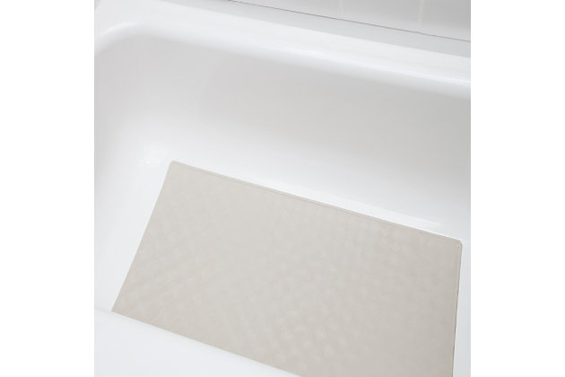 Kenney Non-Slip Rubber Bath, Shower, and Tub Mat with Suction Cups, Taupe, large
