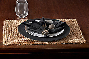 LR Home Classic Braided Natural Jute Placemats (Set of 4), , rollover