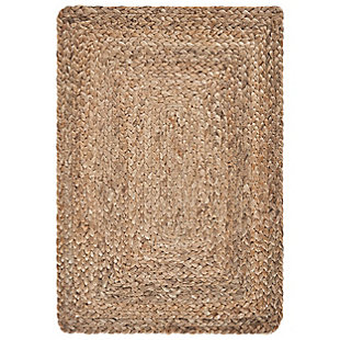 LR Home Classic Braided Natural Jute Placemats (Set of 4), , large