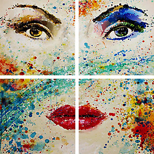 "Expressed in Colors 48"" x 48"" Reverse Printed Acrylic (4 Piece Set), , large"