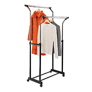 Honey-Can-Do Adjustable Double Hanging Garment Rack, , large