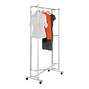 Honey-Can-Do Rolling Folding Garment Rack, , rollover