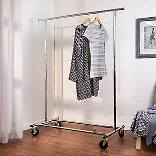 Honey-Can-Do Rolling Collapsible Garment Rack, , rollover
