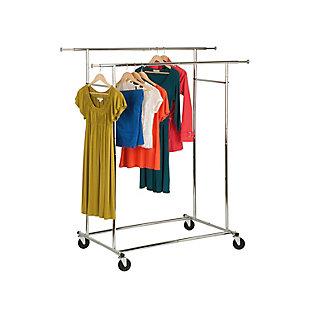 Honey-Can-Do Double Adjustable Garment Rack, , large