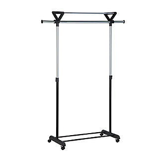 Honey-Can-Do Rolling Garment Rack with Top Shelf, , large