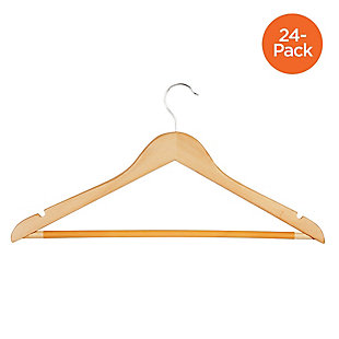 Honey-Can-Do Maple Wood Hangers (Set of 24), , large