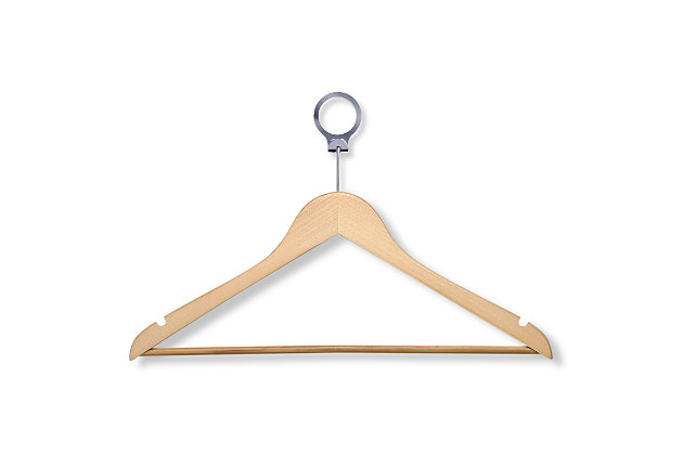 Honey-Can-Do Maple Hotel Suit Hangers, , large
