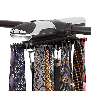 Honey-Can-Do Electronic Tie Rack, , rollover