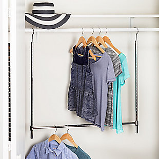Honey-Can-Do Hanging Double Closet Rod, , rollover