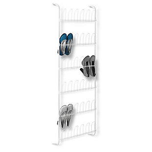 Honey-Can-Do 18 Pair Over The Door Shoe Rack, , rollover