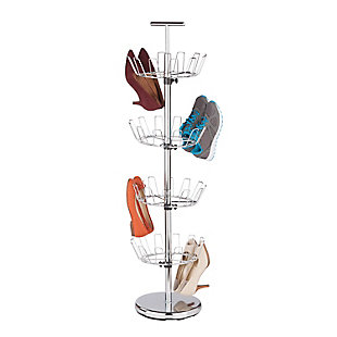 Honey-Can-Do 24 Pair Four Tier Shoe Tree, , rollover