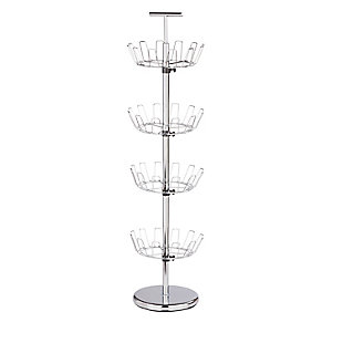 Honey-Can-Do 24 Pair Four Tier Shoe Tree, , large