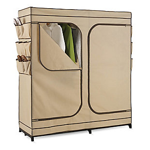 Honey-Can-Do Portable Double Door Wardrobe, , rollover