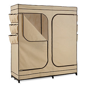Honey-Can-Do Portable Double Door Wardrobe, , large