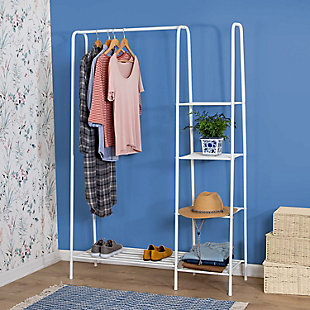 Honey-Can-Do Free Standing Closet with Shelves, , rollover