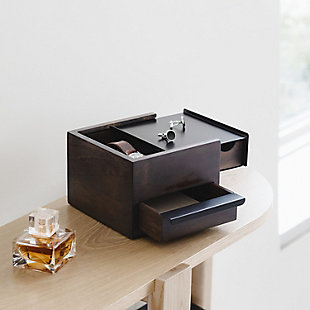 Umbra Stowit Mini Jewelry Box, Black Walnut, rollover