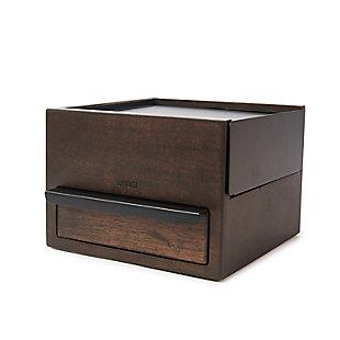 Umbra Stowit Mini Jewelry Box, Black Walnut, large