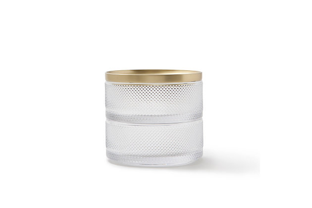 Umbra Tesora Box Glass, Brass, large