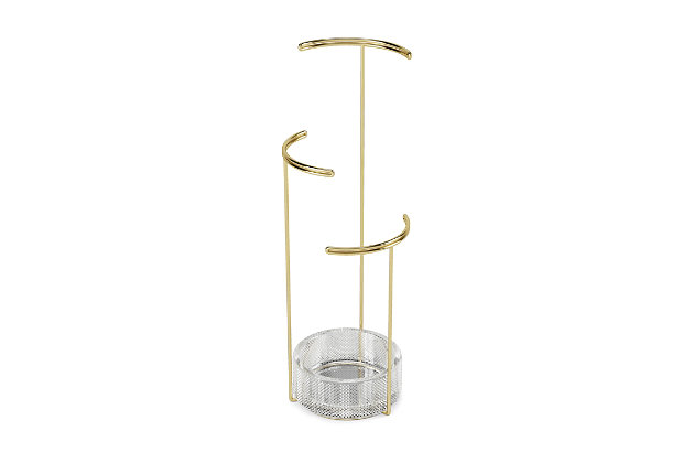 Umbra Tesora Jewelry Stand Glass, Brass, large
