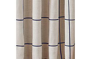 """Elrene Home Fashions Brighton Windowpane Plaid Blackout Window Curtain Panel, 52""""x95"""", Indigo, large"""