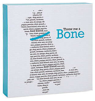 Home Accents Throw Me a Bone Wall Decor, , rollover