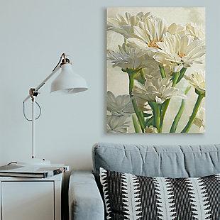 Study of White Daisy Petals 36x48 Canvas Wall Art, White, rollover