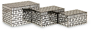 Home Accents Foley Mirror Mosaic Boxes (Set of 3), , large