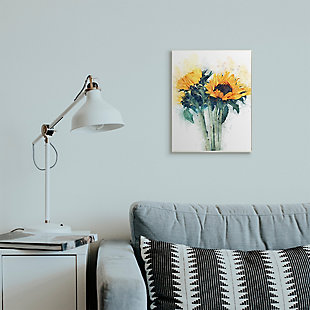 Sunflower Assortment with Watercolor 13x19 Wall Plaque, Multi, rollover