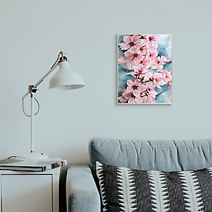 Branch of Blooming Cherry Blossoms 13x19 Wall Plaque, Pink, rollover