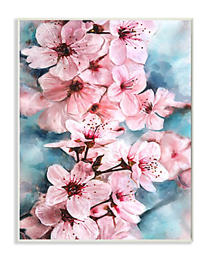 Branch of Blooming Cherry Blossoms 13x19 Wall Plaque, Pink, large