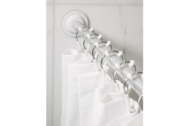 Umbra Flex Double Shower Ring Bundle 2 Packs of 12, White/Chrome, large