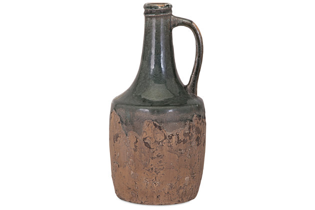 Home Accents Bardot Small Blue Stone Ceramic Jug, , large