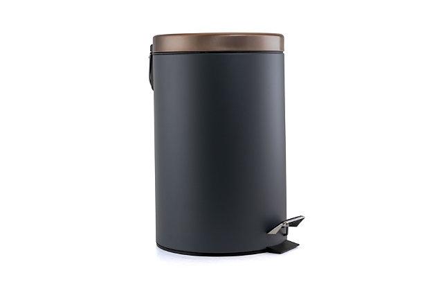 Elama Elama 5 Liter Stylish Gray and Copper Soft Pedal Office, Kitchen and Bathroom Trash Bin, , large