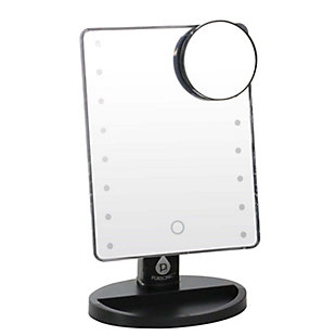 Pursonic Pursonic LED Dimmable Touch Vanity Makeup Mirror With Detachable 5X Mirror, Black, large