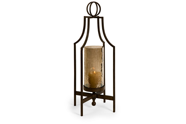 Home Accents Bauer Iron Candleholder by Ashley HomeStore, Black