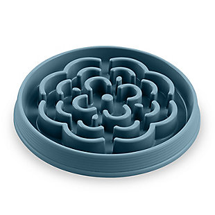 """TarHong Slow Chow™ Medallion Large Feeder, Teal, 13"""" x 1.6""""/ 7 Cups, PP Plastic, Set of 2, Teal, large"""
