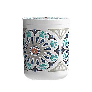 """TarHong Carmel Medallion Treat Jar Gray, 5.6"""" x 7.3""""/ 65 oz., Melamine, Set of 2, , large"""