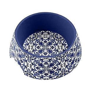 """TarHong Canyon Clay Pet Bowl, Medium, Indigo, 7.1 x 2.8""""/ 2.5 Cups, Melamine, Set of 2, , large"""