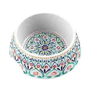 """TarHong Boho Medallion Pet Bowl, Medium, Multi, 7.1 x 2.8""""/ 2.5 Cups, Melamine, Set of 2, , rollover"""