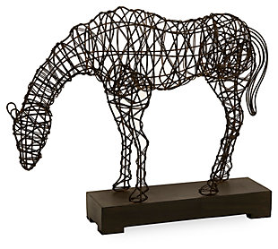 Home Accents Anatole Woven Horse Statuary, , large
